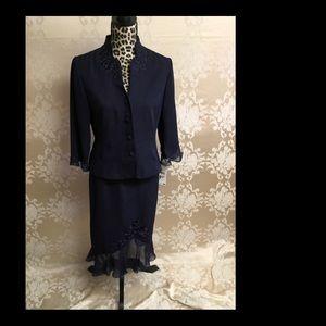 NWT 2-Piece elegant rose skirt and jacket set.